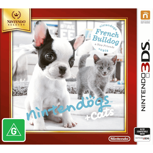 Nintendogs + Cats French Bulldogs & New Friends Nintendo 3DS Game