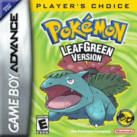 Pokemon LeafGreen Version GBA Game Boy Box Art