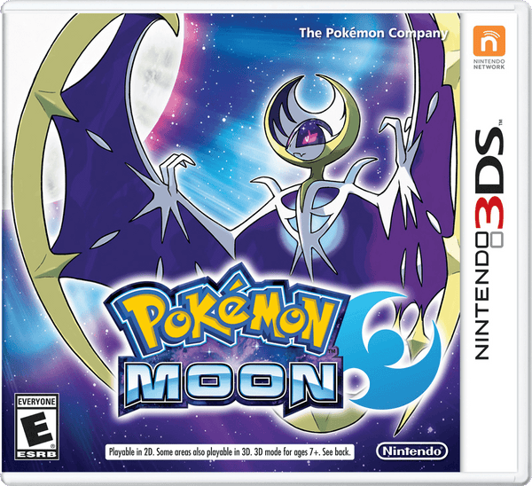 Pokémon Moon Nintendo 3DS Game Box Art