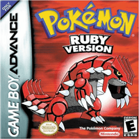 Pokémon Ruby Version Game Boy Advance GBA Box Art
