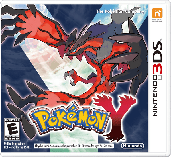 Pokémon Y Nintendo 3DS Game Cover Art