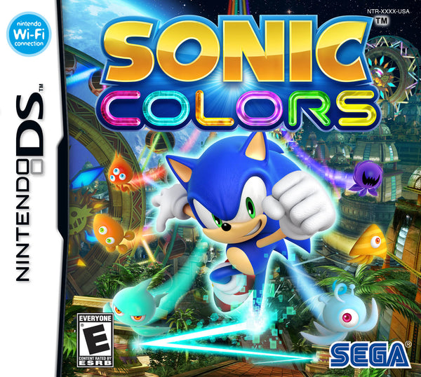 Sonic Colors Nintendo DS Game Box Art