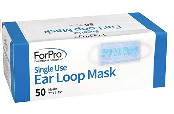 3 Ply Disposable Face Masks - 50/box