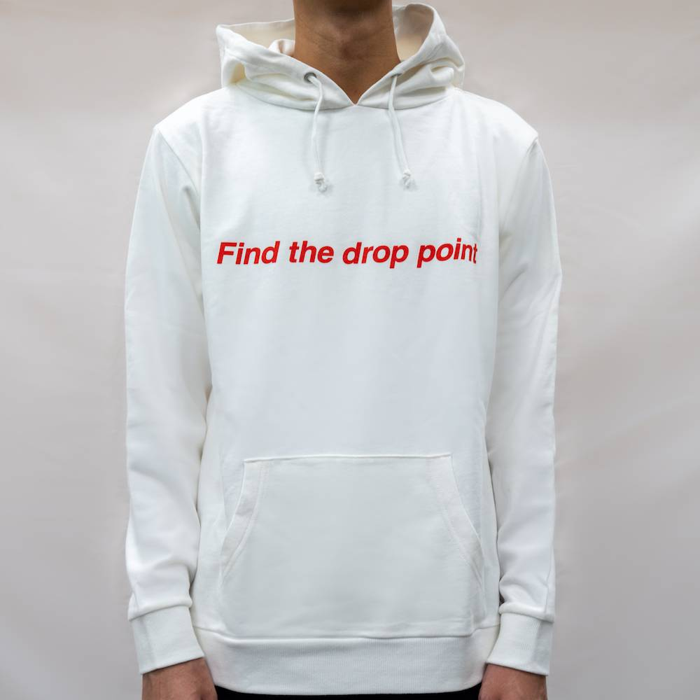 pubg Find The Drop Point Hoodie White フロント