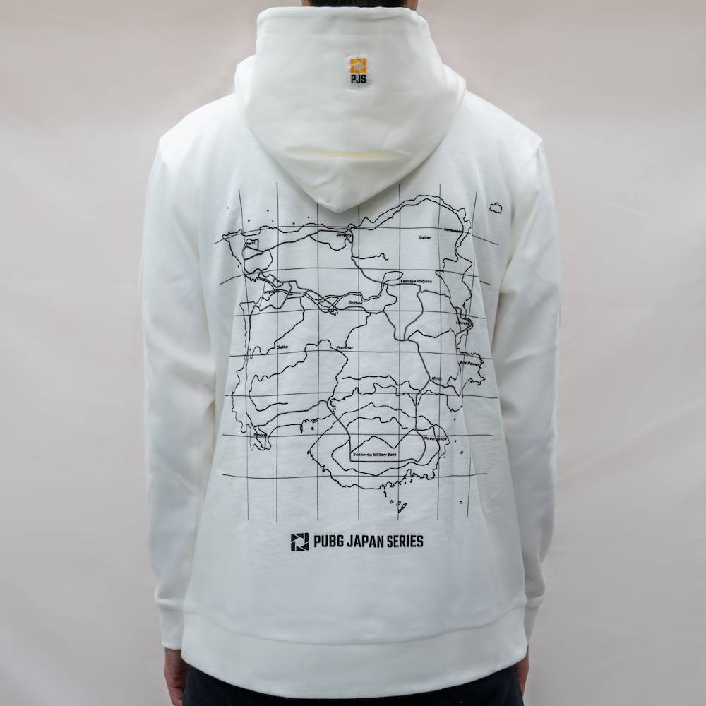 pubg Find The Drop Point Hoodie White バック