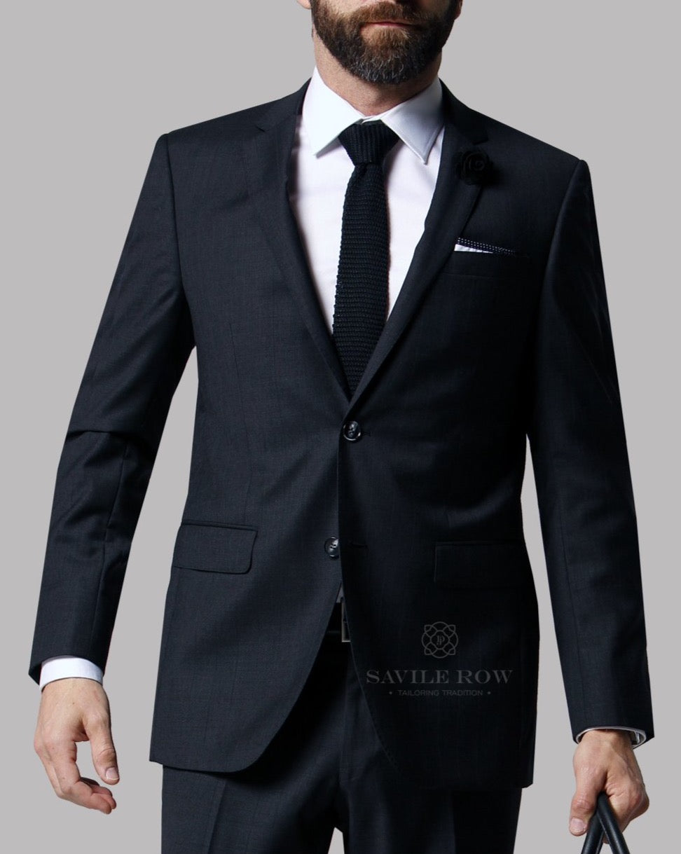 Savile Row Charcoal Suit Jacket