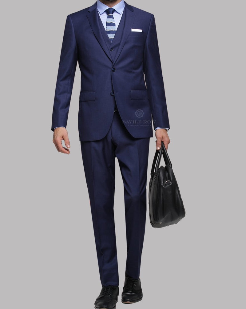 Savile Row Cobalt Suit Trousers