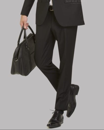 Savile Row Black Suit Trousers