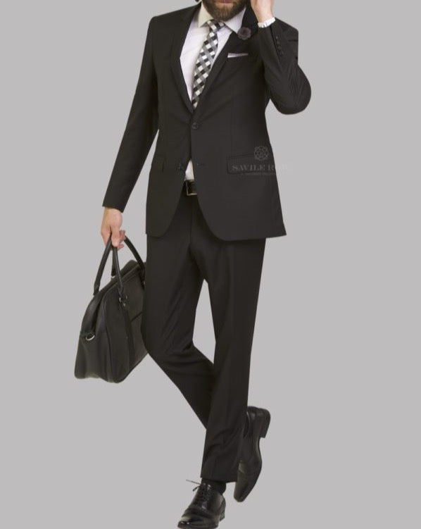 Savile Row Black Suit Jacket