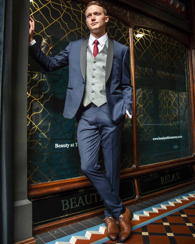 WEDDING HIRE - Boston Navy Dinner Suit Trousers