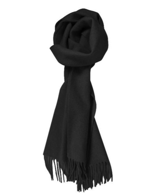 100% Lambswool Black Scarf