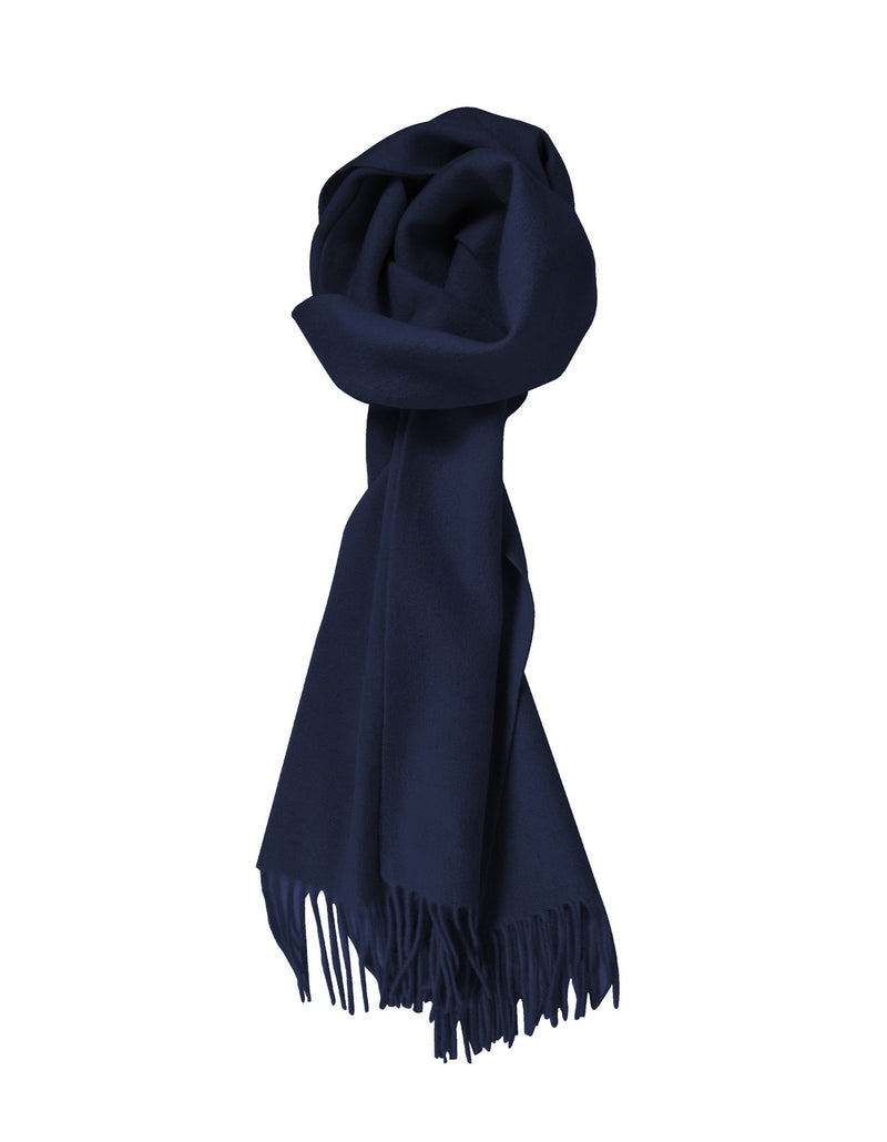 100% Lambswool Navy Scarf