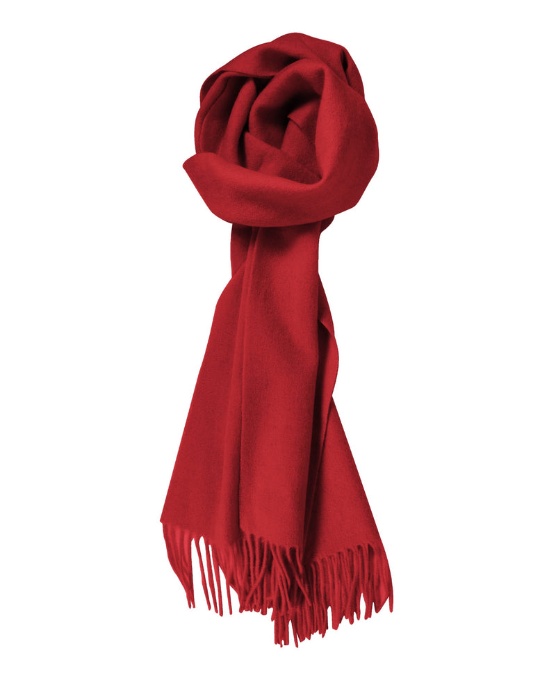 100% Lambswool Red Scarf