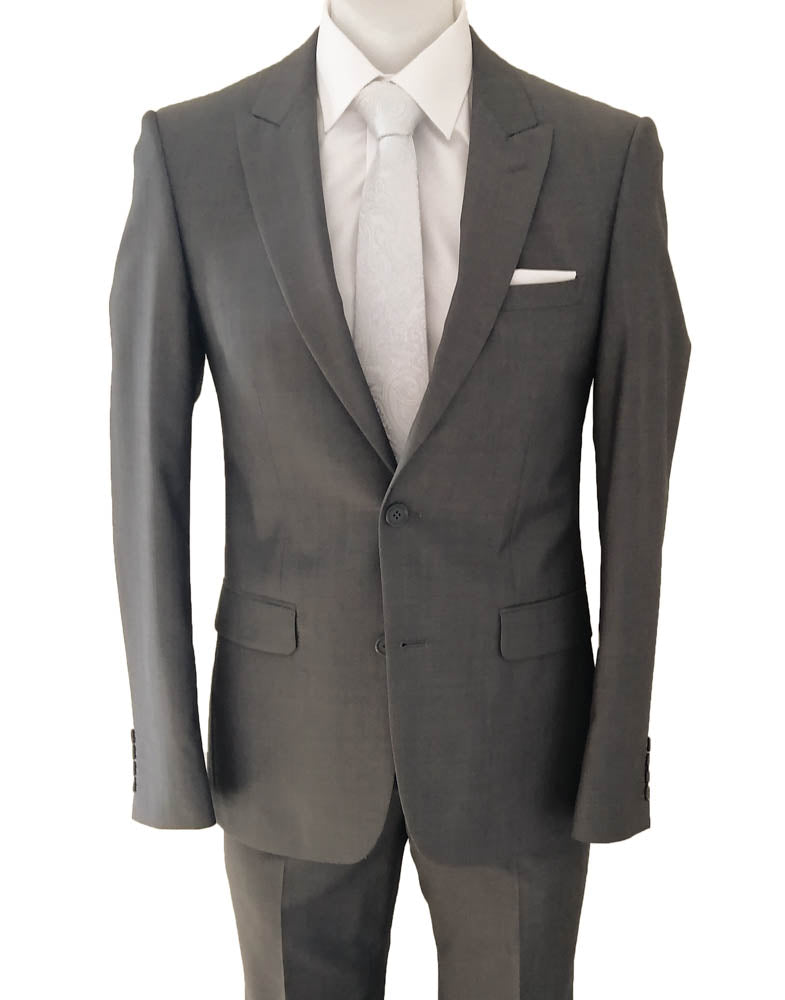School Ball Suit Hire - New England Two Button Mid Grey Chalton Suit