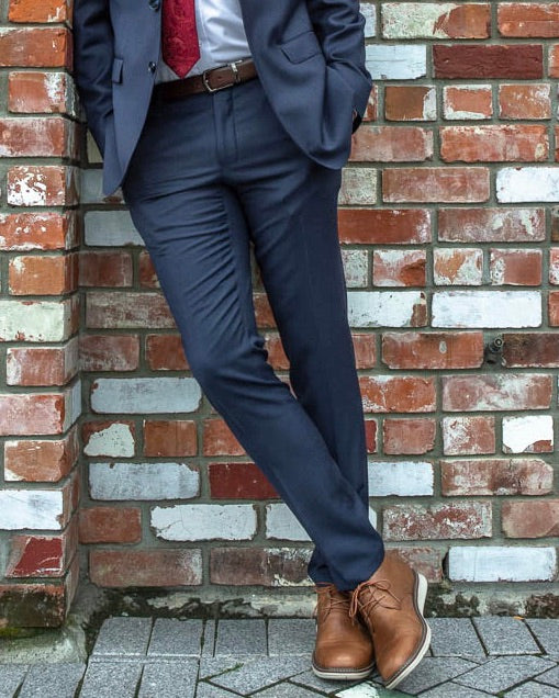 SCHOOL BALL - Navy Slim Fit Trousers