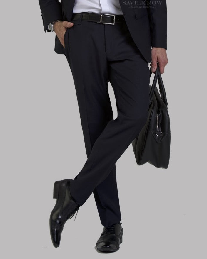 Savile Row Navy Suit Trousers