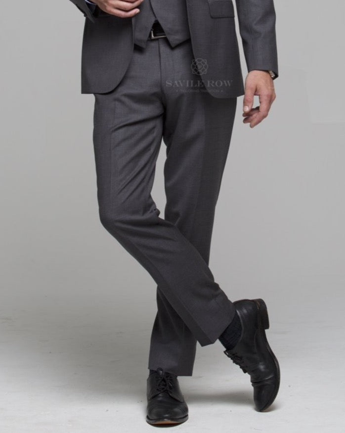 Savile Row Grey Suit Trousers
