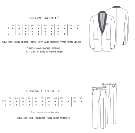 WEDDING - Boston Black Dinner Suit Jacket