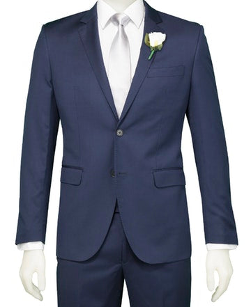 School Ball Suit Hire - Savile Row Navy 2 piece Suit