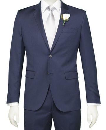 SCHOOL BALL - Navy Slim Fit Suit Jacket