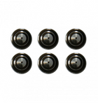 AntiCorp Alloy Black Studs 6pc - Black