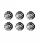 AntiCorp Alloy Silver Studs 6pc - Silver
