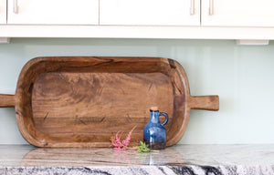 Harper Large Handcrafted Dough Bowl