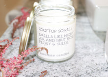 Load image into Gallery viewer, Rooftop Soirée - Peony & Suede / All Natural Candle