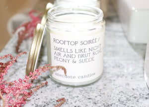 Rooftop Soirée - Peony & Suede / All Natural Candle