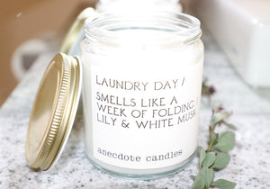Laundry Day - Lily & White Musk / All Natural Candle