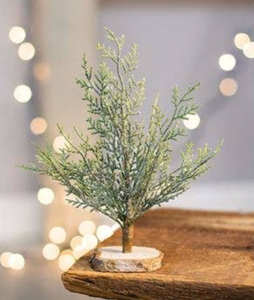 Frosted Mini Faux Cypress Tree
