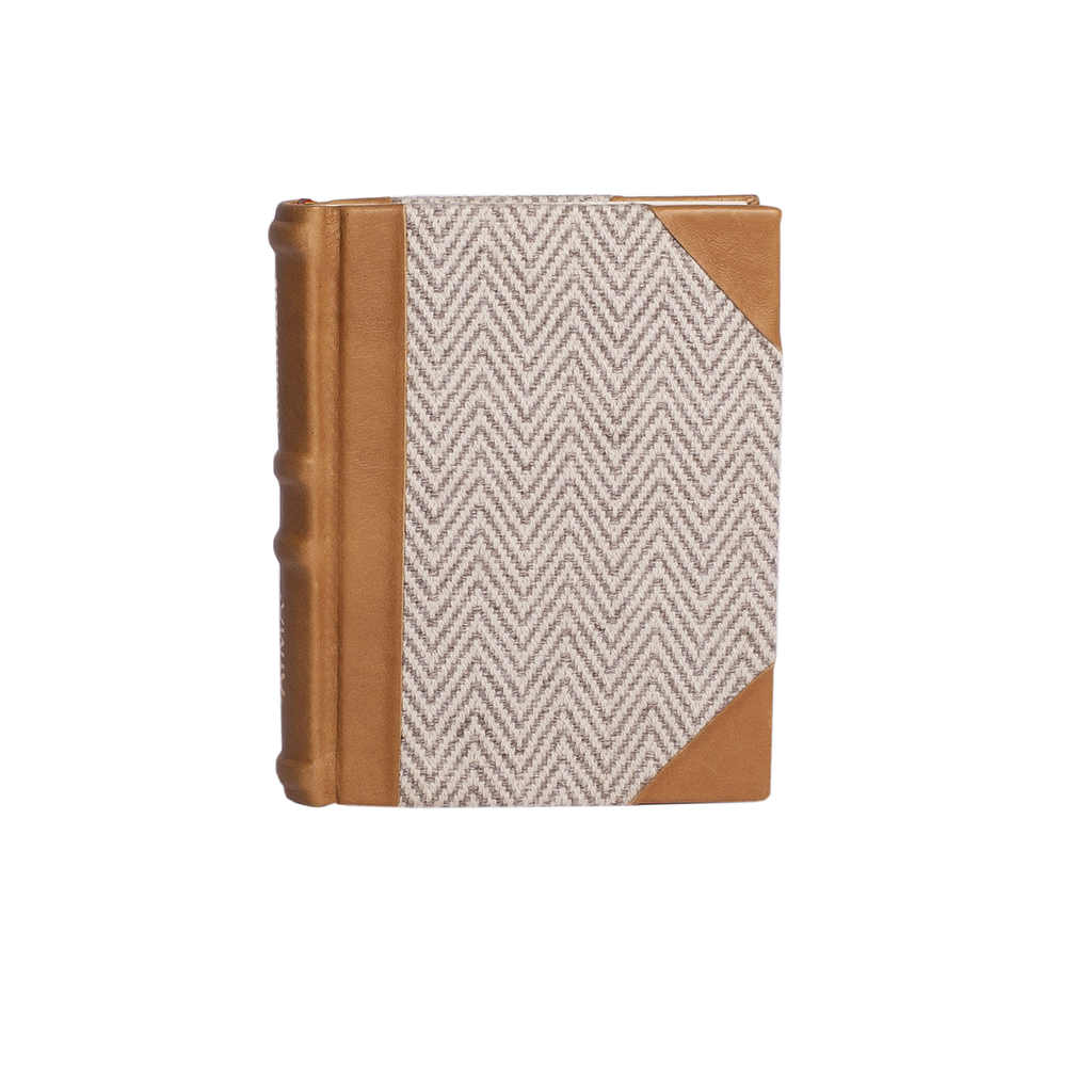 NOTEBOOK - tan, ivory & grey