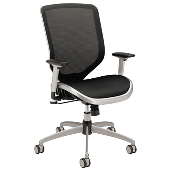 HON - IN STOCK Boda High-Back Black Mesh Task Chair, Silver Frame SPECIAL - Duckys Office Furniture