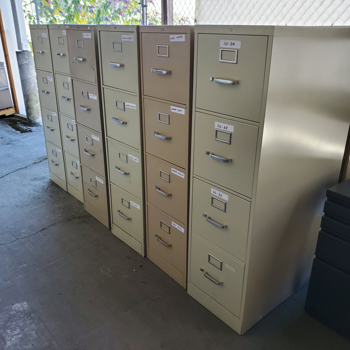 Pre-Owned - Used HON 4 Drawer Letter Vertical Files - Duckys Office Furniture