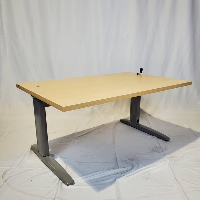 "Used Manual Height Adjustable Desk 30X47"" - Duckys Office Furniture"