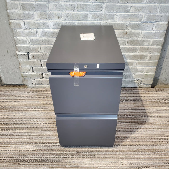 Closeout HON Dark Gray File/File Pedestal