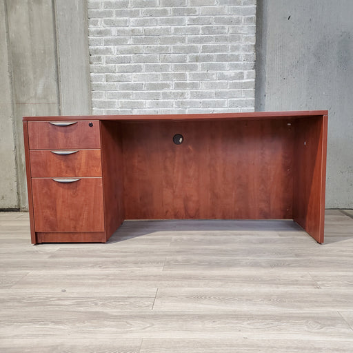 Cherry Laminate Credenza with Pedestal - Duckys Office Furniture