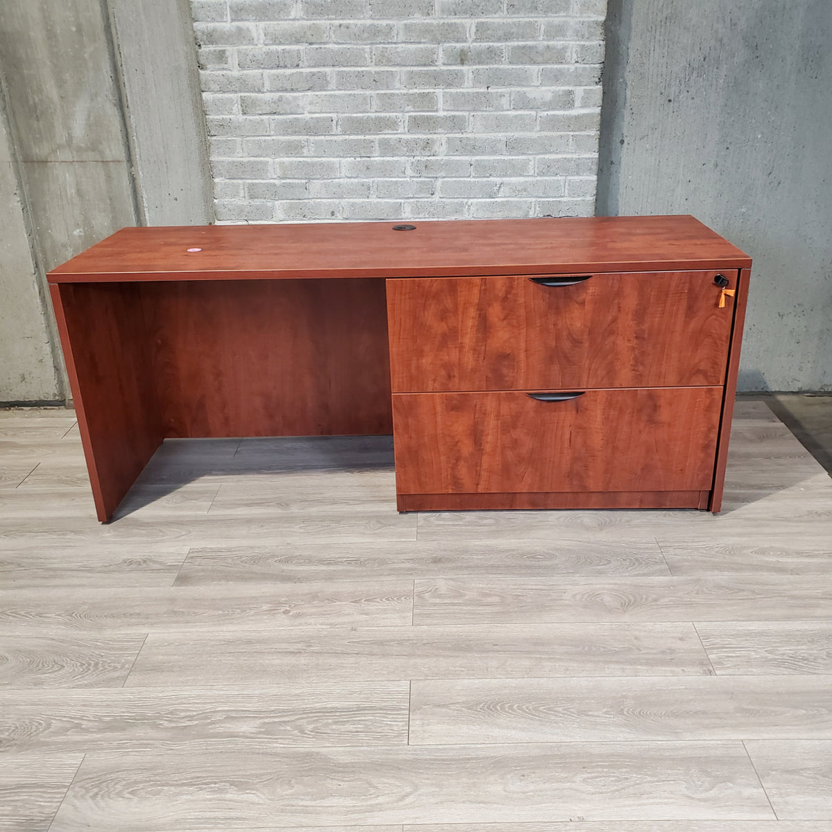 Pre-Owned - Cherry Laminate Credenza with Lateral - Duckys Office Furniture