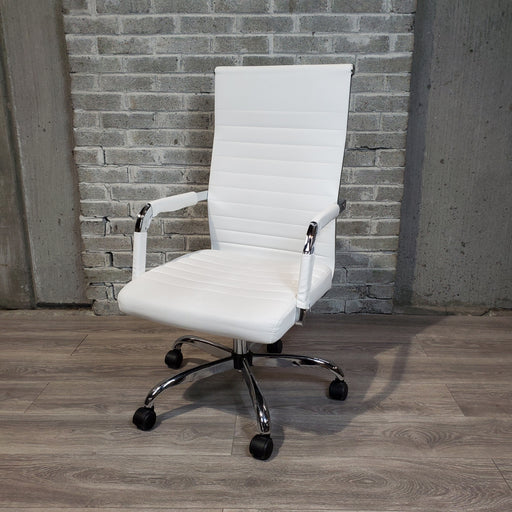 Used White Mid-Century Style Office Chair