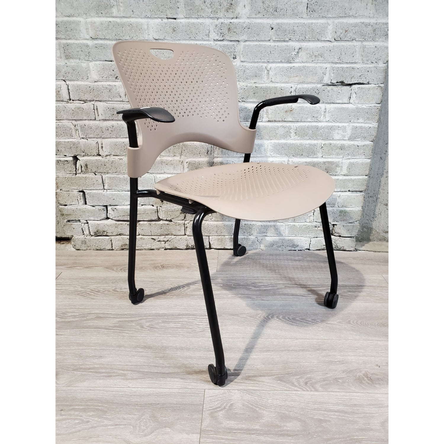 Pre-Owned - Used Herman Miller Caper Side Chair with Casters - Taupe - Duckys Office Furniture