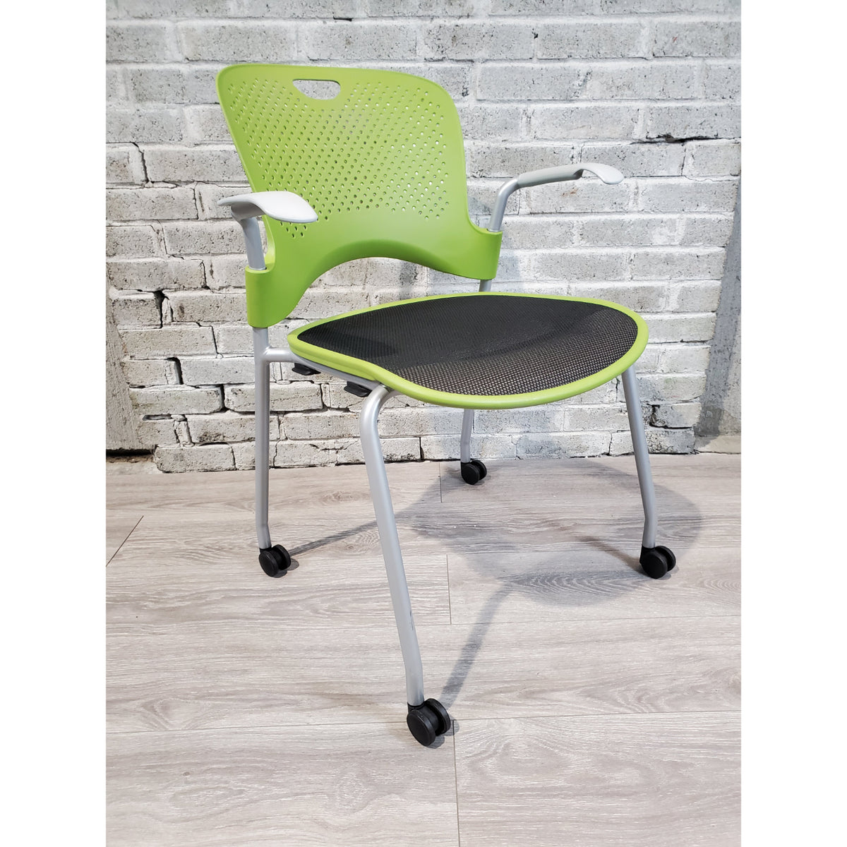 Pre-Owned - Used Herman Miller Caper Side Chair with Casters - Green - Duckys Office Furniture