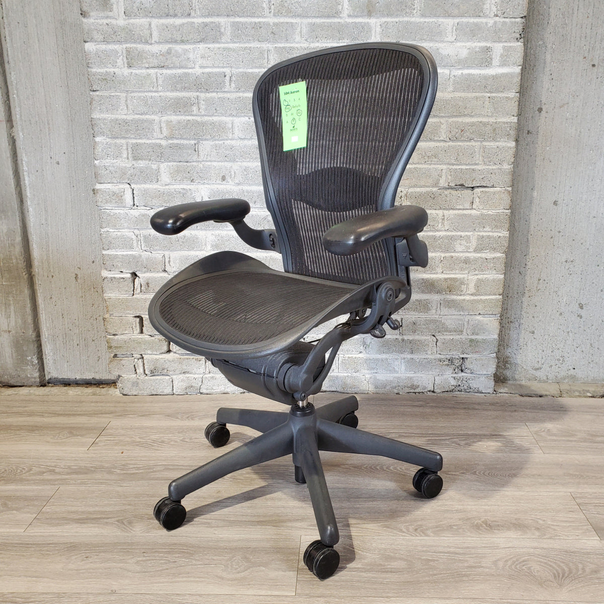 Pre-Owned - Used Herman Miller Aeron Chair- with Forward Tilt- Size B - BLACK - 1RA2B - Duckys Office Furniture