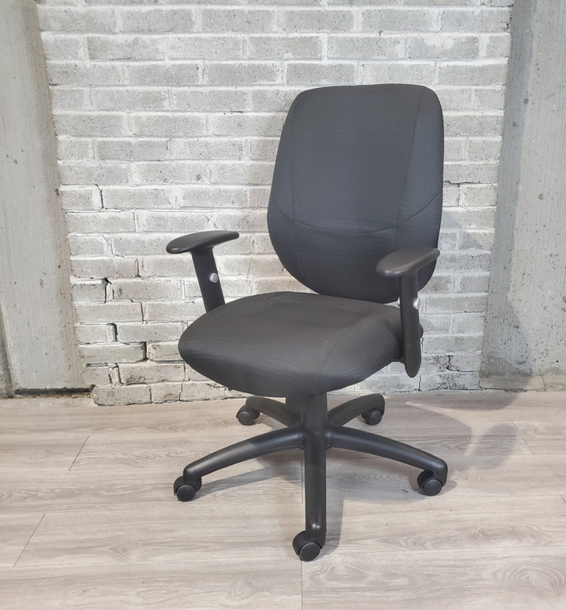 Used OTG Upholstered Task Chair - Black - Duckys Office Furniture