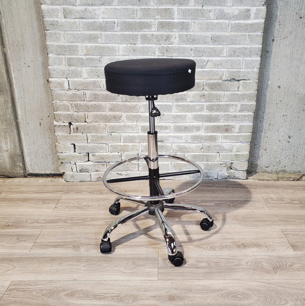 Used Black Task / Drafting Height Stool - Duckys Office Furniture