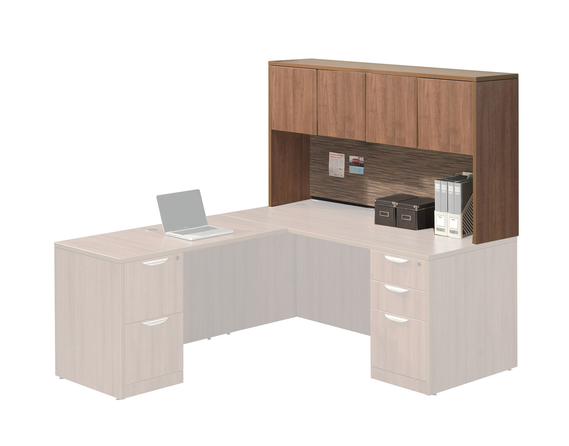 Performance - Add-On Performance Classic Laminate Hutch with 4 Laminate Doors - Duckys Office Furniture