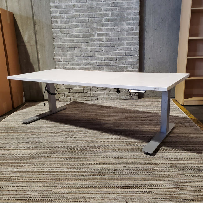 Used Electric Height Adjustable Standing Desk 30x72 (Frankie) - Duckys Office Furniture