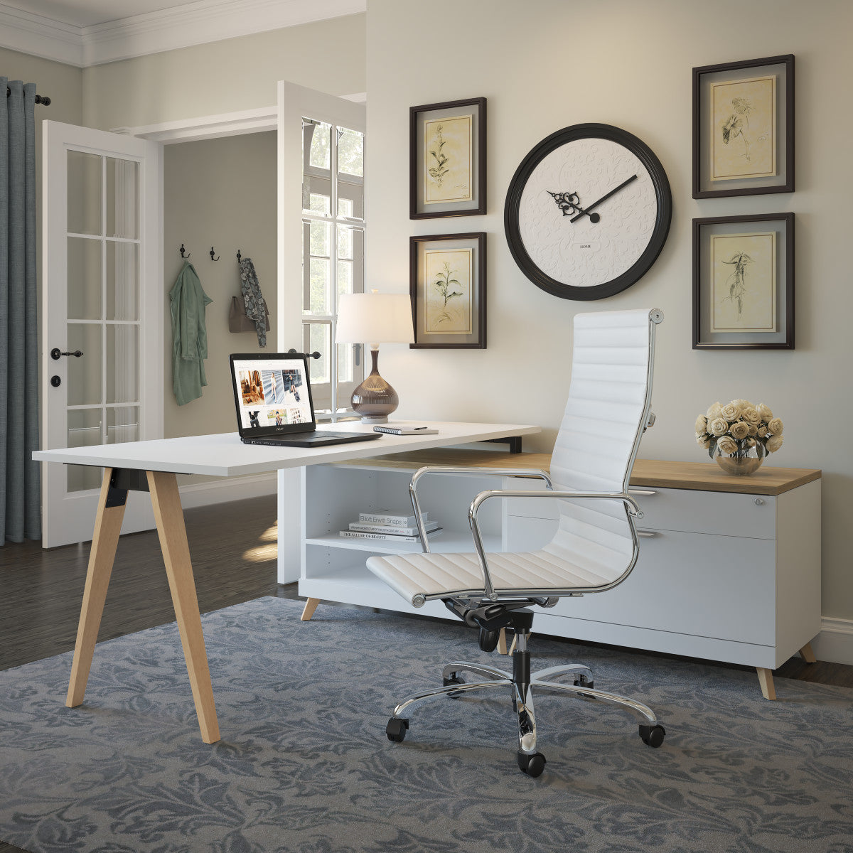 Performance - NEW! Elements Plus Modern V-Leg L-Desk - Duckys Office Furniture