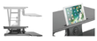 Flexus-E Electric Desktop Standing Unit - Duckys Office Furniture