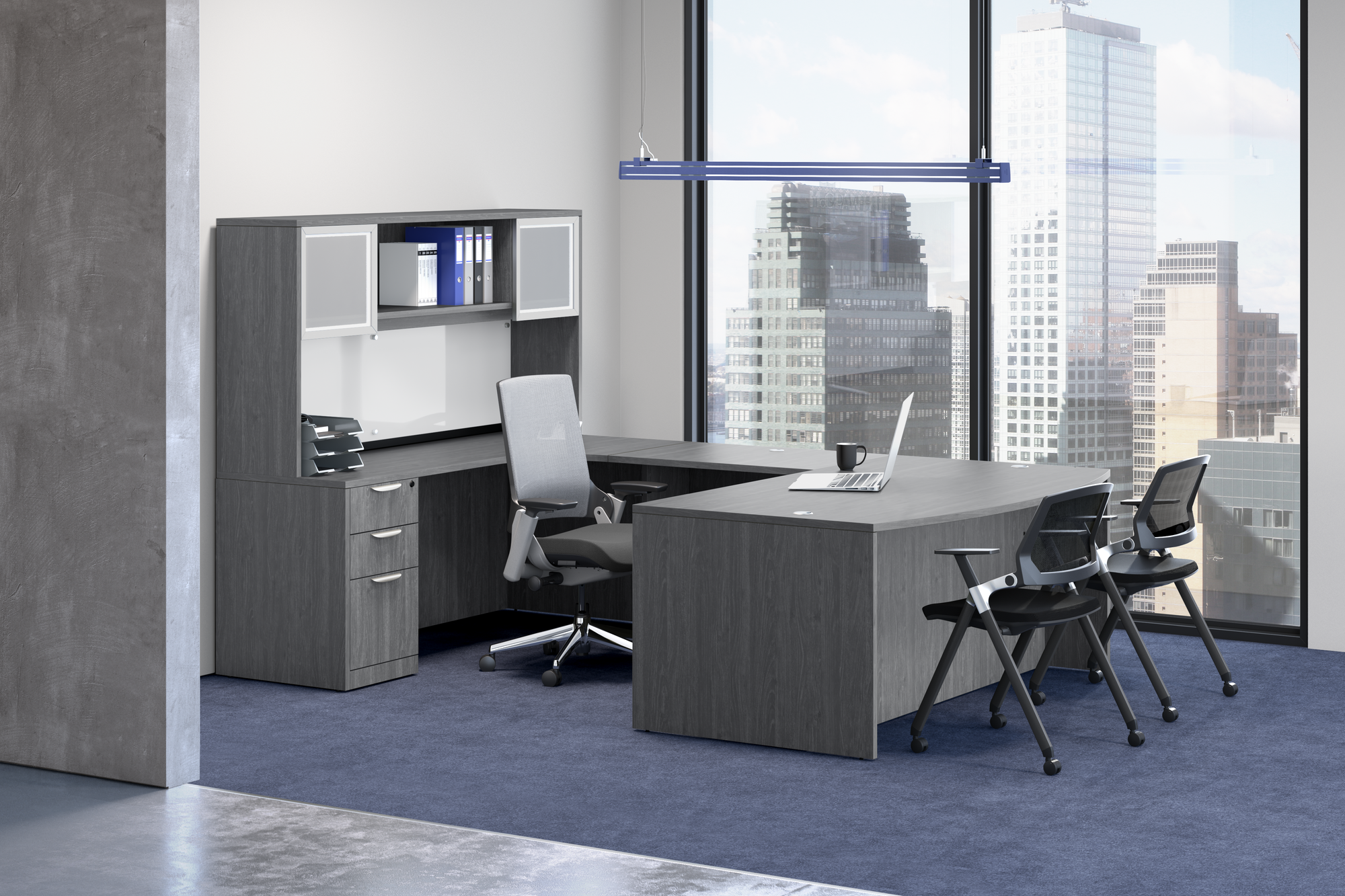 "Performance - 71"" x 112"" Performance Classic Laminate Bowfront U Desk - Duckys Office Furniture"