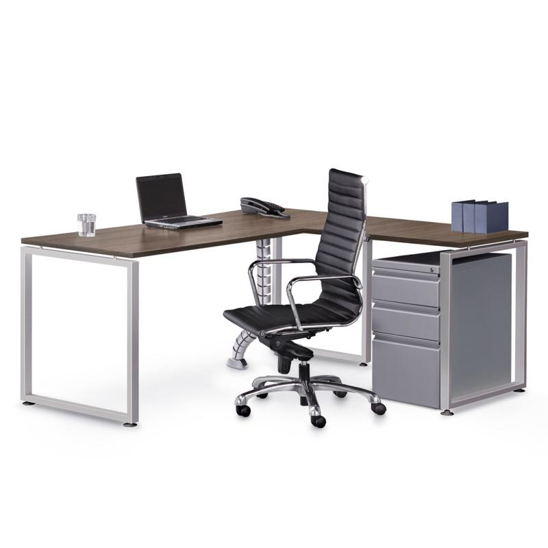 "Performance - 72"" X 72"" Performance Elements Laminate L Desk with Mobile Pedestal File - Duckys Office Furniture"
